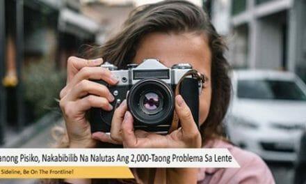 Mehikanong Pisiko, Nakabibilib Na Nalutas Ang 2,000-Taong Problema Sa Lente