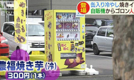 Japan Vending Machines Now Sells Baked Sweet Potato