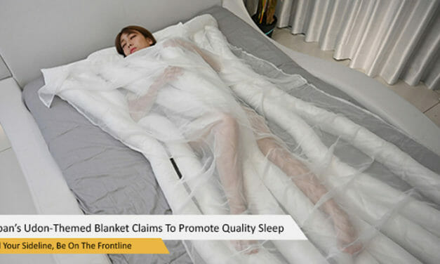 Japan's Noodle-Themed Blanket Claims To Promote Quality Sleep