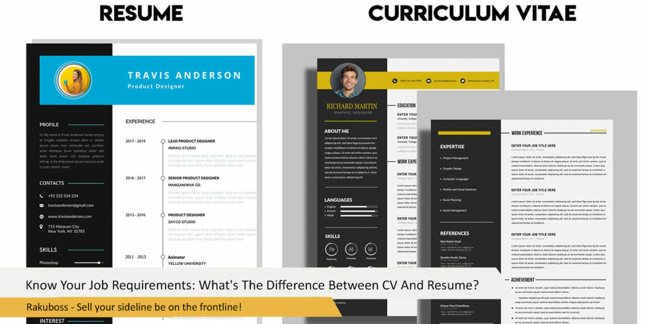 Know Your Job Requirements: What's The Difference Between CV And Resume?